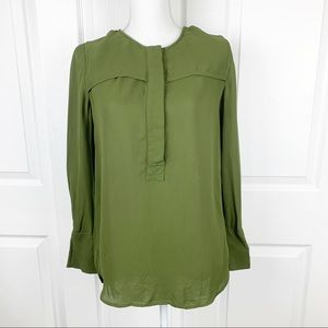 J. Crew Olive Long Sleeve Blouse